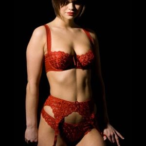 French lingerie red bra AUBADE PARISs underwire